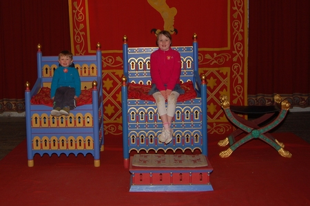 King throne in Dover Castle English Heritage