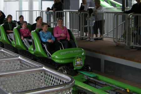 Ben 10 Ulitimate Mission Roller Coaster Ride at Drayton Manor Theme Park