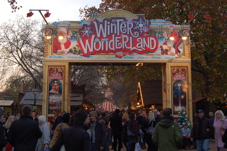 Main entrance to Hyde Park Winter Wonderland