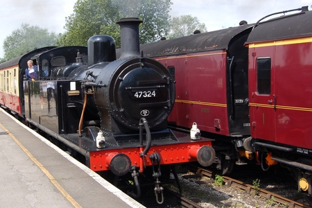 Steam train at the Midlands Railway Centre