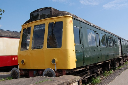 DMU diesel train engine at Butterley Station - Midlands Railway Centre