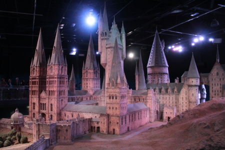 Model of Hogwarts School of Whichcraft and Wizardry at the Harry Potter Studios