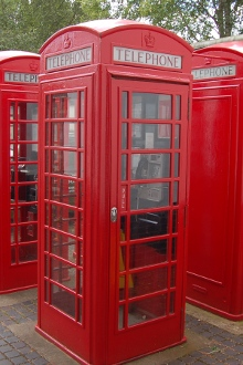 BT Public telephone boxes at Avoncroft Museum in Bromsgrove Worcestershire