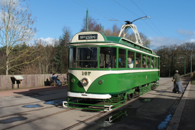 Former Blackpool Tram at Beamish open air museum