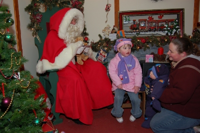 Santa Claus at Whinfell Forest Center Parcs near the Lake Districts
