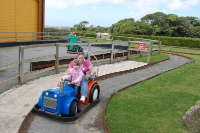 Ride on tractors at Dairyland Farm World