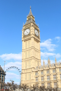 Elizabeth tower at the houses of parliament - Big Ben clock tower