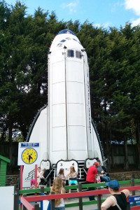 Space shuttle ride at Flambards Theme Park