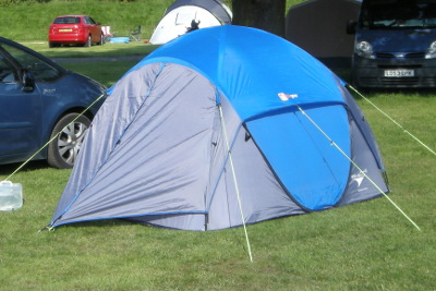 Hi-Gear Pitch and Go DS4 tent at Gullivers Land Camping and Caravan club site