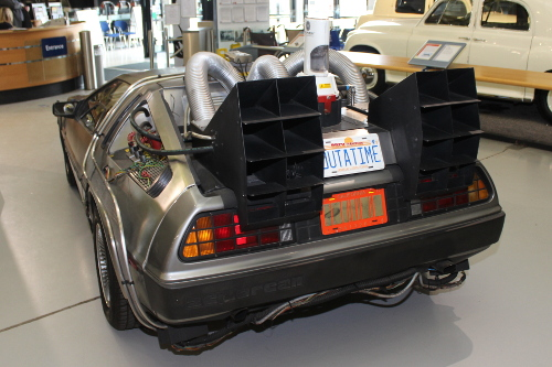 Back to the future car at heritage motor museum Warwickshire