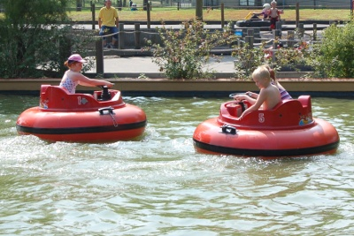 Bumper boats at Speelland / Play Land Beekse Bergen in Holland