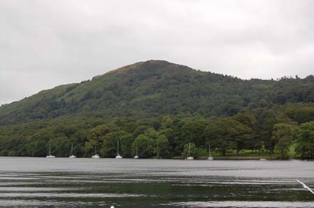 View of Lake Windermere from Lakeside Railway Station