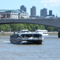 Thames Clipper boat service on the Thames