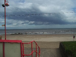 View of the beach from Mablethorpe