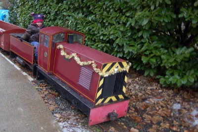 Ride on miniature railway train at National Railway Museum in York