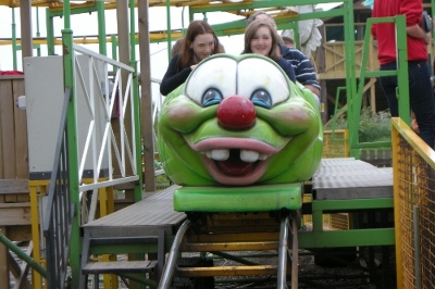 Rollercoaster at Twinlakes family theme park in leicestershire