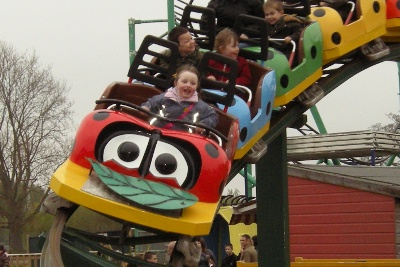 Children's rollercoaster at Wicksteed Park, Kettering, Northamptonshire
