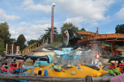 Amusement rides at West Midlands Safari Park