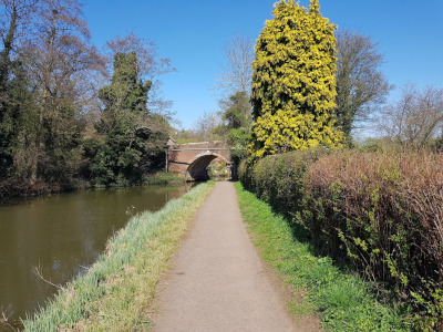 Walk in Worcestershire - Barnt Green Waterways Circular Walk - View of canal