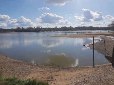 Walk in Worcestershire - Earlswood Lakes, partially drained for maintenance work